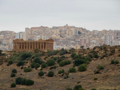 Valley of the Temples in Agrigento. The Greek Temple of Concordia was built 5th Century BC and is amazingly well preserved.
