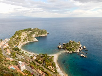 Riding up to Taormina