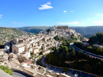 Old Ragusa, like so many towns, perched on a hill.