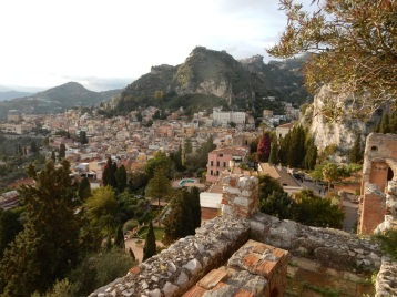 View from the amphitheatre in Taormina